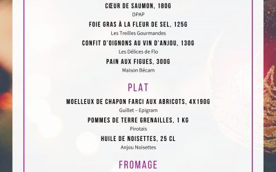 Lancement de la box Menu de Noël